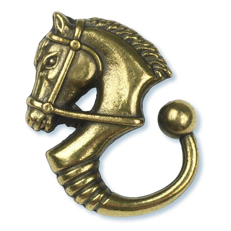 Stübben Schlüsselanhänger, Pferdekopf, Messing